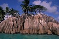 Rocky Coast of St Pierre Islet, Seychelles Fine-Art Print