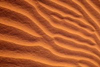 Sand Dunes Furrowed by Winds, Morocco Fine-Art Print