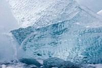 South Georgia Island, Wirik Bay, Glacier ice Fine-Art Print