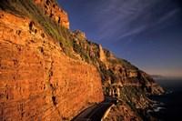 South Africa, Cape Peninsula. Chapmans peak drive cliffs Fine-Art Print