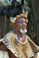 South Africa, KwaZulu Natal, Zulu tribe chief Fine-Art Print