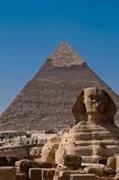 Sphinx and Pyramid, Giza, Egypt Fine-Art Print