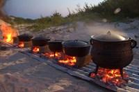 Traditional Beach Dinner, Jeffrey's Bay, South Africa Fine-Art Print