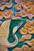 Tile mural of swans and clouds in Forbidden City, Beijing, China Fine-Art Print