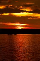 Sunset over Chobe River from Sedudu Bar,Kasane, Botswana, Africa Fine-Art Print