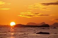 Sunset, Antarctic Peninsula, Antarctica Fine-Art Print