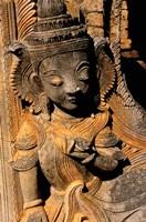 Stupa Details, Shwe Inn Thein, Indein, Inle Lake, Shan State, Bagan, Myanmar Fine-Art Print