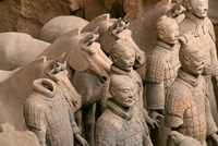 Terra Cotta Warriors and Horses at Emperor Qin Shihuangdi's Tomb, China Fine-Art Print