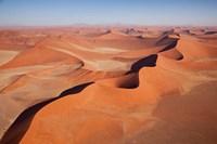 View of Namib Desert sand dunes, Namib-Naukluft Park, Sossusvlei, Namibia, Africa Fine-Art Print