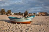 Tunisia, Hammamet, Kasbah Fort, Fishing boats Fine-Art Print
