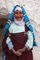 Tunisia, Ksour Area, Matmata, older Berber woman Fine-Art Print