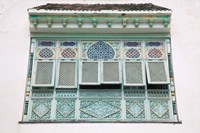 Tunisia, Mahdia, window, moorish architecture Fine-Art Print