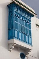 Tunisia, Sidi Bou Said, building detail Fine-Art Print