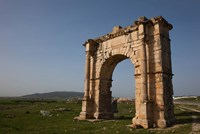 Tunisia, Dougga, Roman-era arch on Route P5 Fine-Art Print