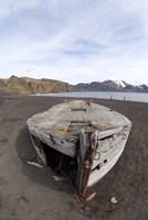 Wooden whaling boat, Deception Island, Antarctica Fine-Art Print