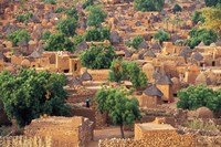 View of the Dogon Village of Songo, Mali Fine-Art Print
