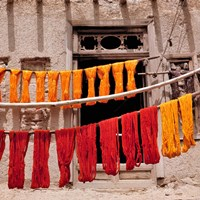 Wool drying textile, Ghazni, Afghanistan Fine-Art Print