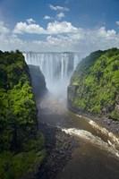 Victoria Falls and Zambezi River, Zimbabwe Fine-Art Print