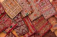 Woven Fabrics, Essaouira, Morocco Fine-Art Print