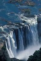 Zambezi River Flowing over Victoria Falls, Mosi-Oa-Tunya National Park, Zambia Fine-Art Print