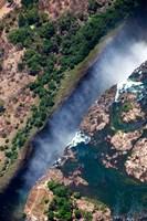Zimbabwe, Victoria Falls, border of Zambia/Zimbabwe Fine-Art Print