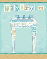 Bathroom Words Sink II Fine-Art Print