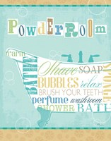 Bathroom Words Tub I Fine-Art Print