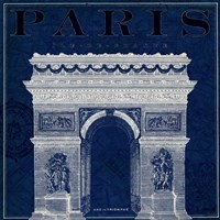 Blueprint Arc de Triomphe Fine-Art Print