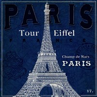 Blueprint Tour Eiffel Fine-Art Print