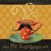 Cafe Moustache III Square Fine-Art Print
