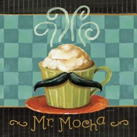 Cafe Moustache V Square Fine-Art Print