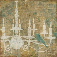 Faded Ornate I Aqua Fine-Art Print