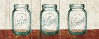 Flea Market Mason Jars Panel II Table Fine-Art Print