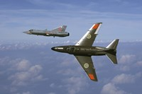 Saab J 32 Lansen and Saab 35 Draken fighters of the Swedish Air Force Historic Flight Fine-Art Print