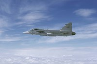 Saab JAS 39 Gripen fighter of the Swedish Air Force Fine-Art Print