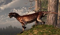 A leopard coated Lycaenops hunts among a forest Fine-Art Print