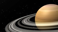 Close-up of Saturn and its planetary rings Fine-Art Print