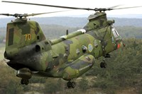 A CH-46 Sea Knight helicopter of the Swedish Air Force Fine-Art Print