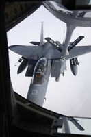 Air refueling a F-15E Strike Eagle of the US Air Force Fine-Art Print