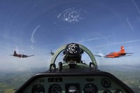 cockpit view of PC-7 turboprop Fine-Art Print