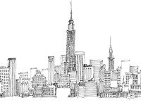 New York Skyline Crop Fine-Art Print