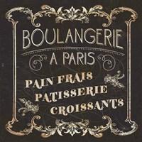 Parisian Signs Square I no Border Framed Print