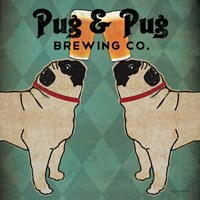 Pug and Pug Brewing Square Fine-Art Print