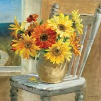 Sunflowers by the Sea Crop Fine-Art Print