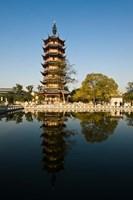 China, Changzhou, Red Plum Park Pagoda Fine-Art Print