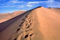 China, Dunhuang, Desert winds, Footprints Fine-Art Print