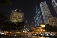 City Skyline, Statue Square, Hong Kong, China Fine-Art Print