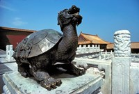 China, Beijing, Forbidden City, Turtle statue Fine-Art Print