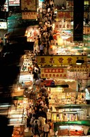 Temple Street Market, Kowloon, Hong Kong, China Fine-Art Print