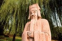 China, Beijing, Ming Dynasty Tombs, Stone statue Fine-Art Print